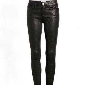 FRAME lamb leather pants